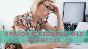 Woman trying to focus at work