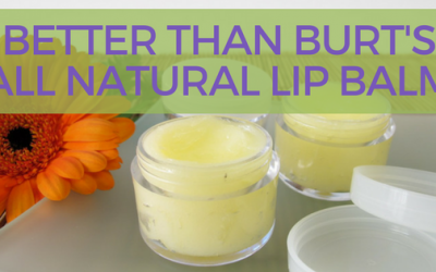 Better Than Burt's: All Natural Lip-Balm
